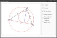 Die Animation zeigt ein Dreieck, das interaktiv ver�ndert werden kann.