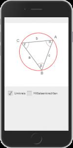 Circumcircle of a triangle