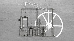 Einzylinder-Dampfmaschine